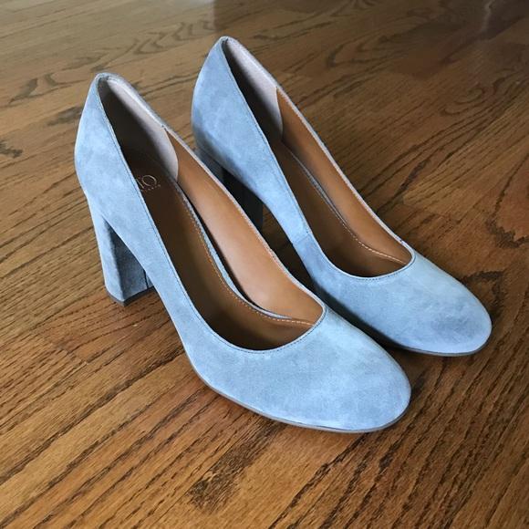 14066e8188 Franco Sarto Shoes | Aziza Gray Suede Pump | Poshmark